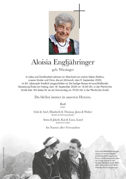 Aloisia Engljähringer