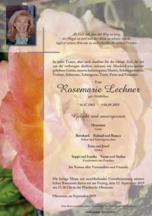 Rosemarie Lechner