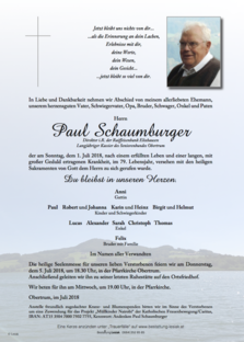 Paul Schaumburger