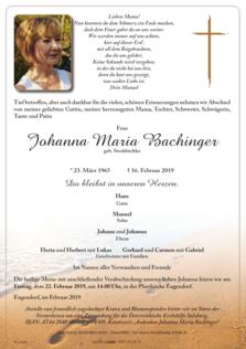 Johanna Bachinger