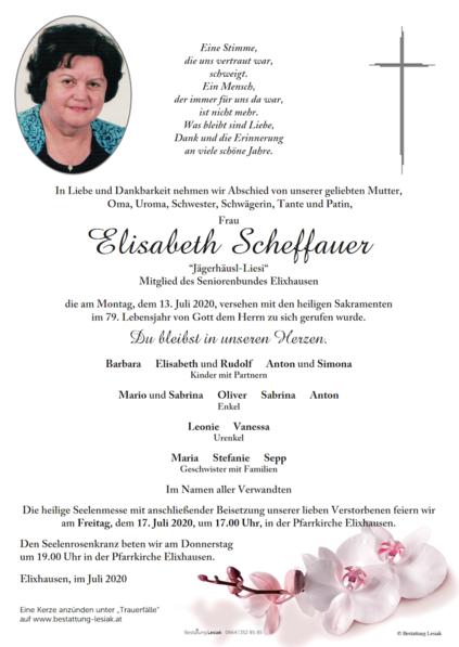 """Elisabeth Scheffauer """"Jägerhäusl-Liesi"""""""