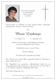 Maria Lindmayr