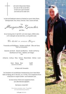 Margarethe Zurucker