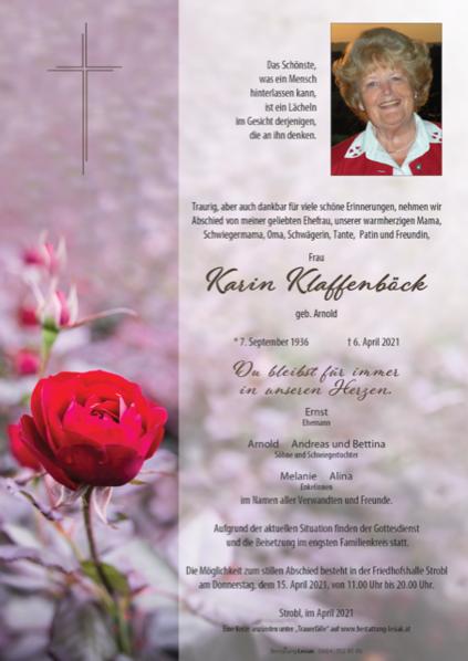 Karin Klaffenböck